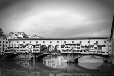 arno: Ponte Vecchio, Florence with reflections in the Arno River