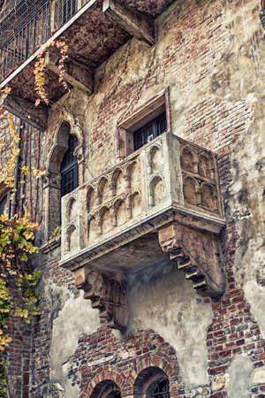 verona: The famous balcony of Romeo and Juliet in Verona, Italy Stock Photo