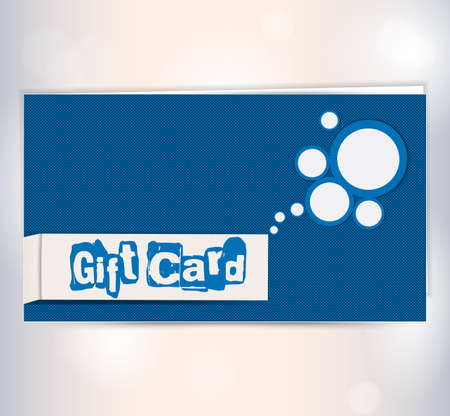 black gift card with bubble.  photo