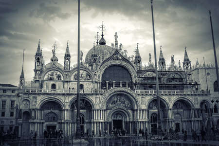 st mark's square: St. Marks Cathedral and square in Venice, Italy Stock Photo