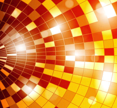 vector background with disco ball - orange Vector