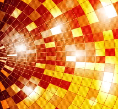 vector background with disco ball - orange Stock Vector - 17061278