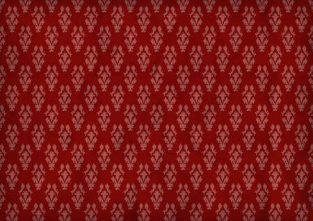 Seamless wallpaper pattern, red Stock Vector - 17101525