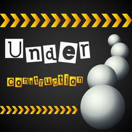 yellow lines with under construction text Stock Vector - 18090920
