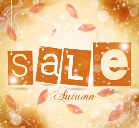 green coupon: green sale tags with shadow. autumn vector illustration Illustration