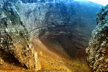 Panoramic view of Vesuvio Volcano crater - Italy photo