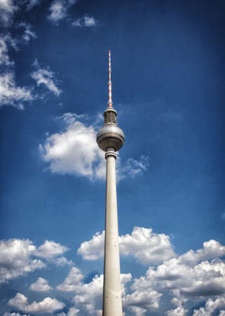television tower in berlin mitte at sunset photo