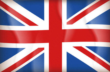 illustration of flag of The United Kingdom of Great Britain and Northern Ireland Illustration
