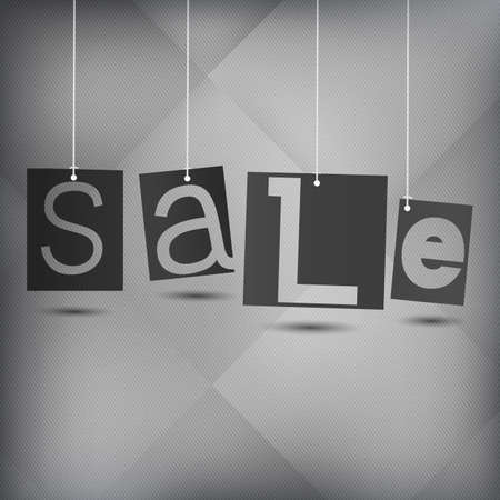 White background with word sale Vector