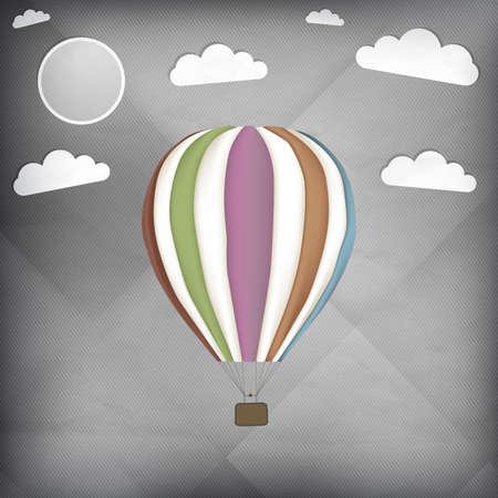 Hot air balloon retro vector illustration Vector