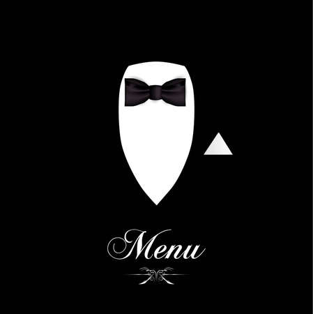formal shirt: menu for you to add you own text for food or a wine list.