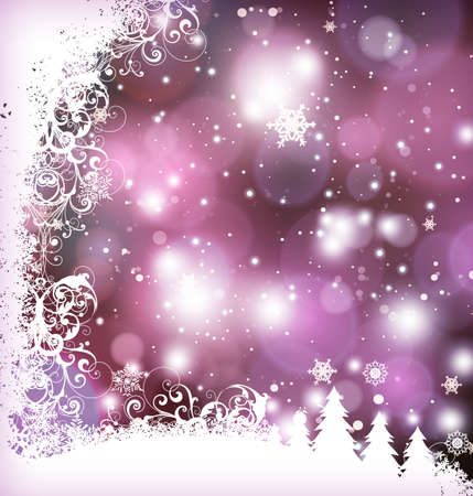 Elegant christmas background with bokehs and stars Illustration