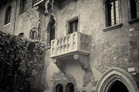 The famous balcony of Romeo and Juliet in Verona, Italy photo