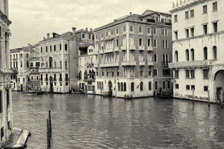 glimpse: Glimpse of Venice B u. W - Italy, Europe Stock Photo