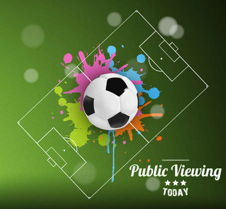 Public Viewing Soccer design vector 2014 Brazil Vector
