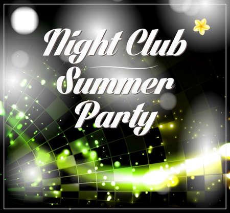 vector disco party flyer brochure poster template design Vector