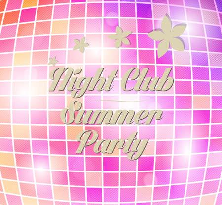 disco party flyer brochure poster template design Vector
