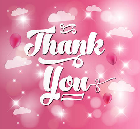 THANK YOU Background calligraphy Vector