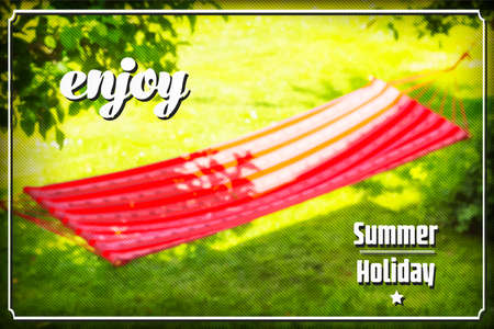 Summer holiday background with hammock Vector