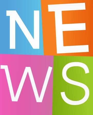 latest: news labels Illustration
