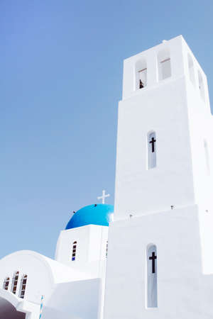 Iconic church with blue cupola photo