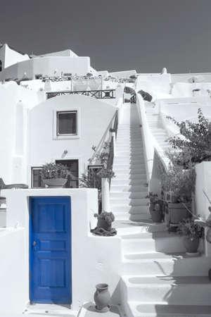 greek pot: Case di Santorini