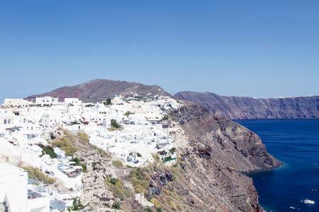 cupolas: Oia village on the island of Santorini