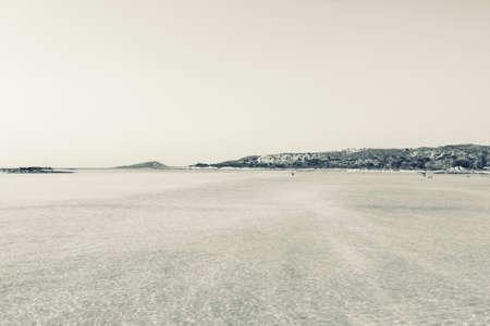 Sand beach of famous Elafonisi photo