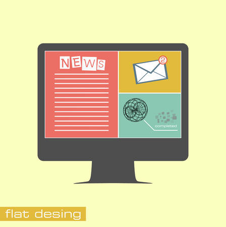 Business concept flat icons Vector