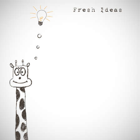 Fresh idea art Vector