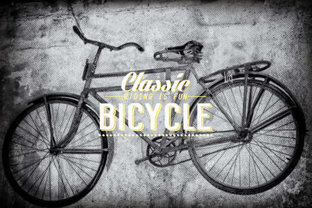 Old rusty vintage bicycle Vector