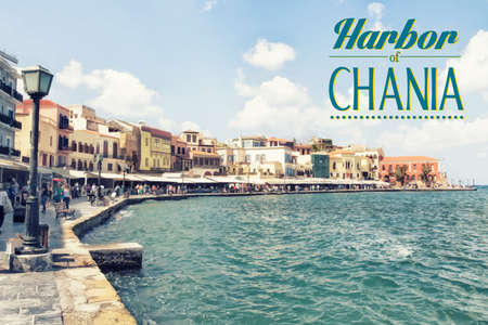 greek islands: Chania on island of Crete, Greece