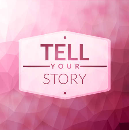 tell stories: Vector pink abstract blurred background new trend Illustration