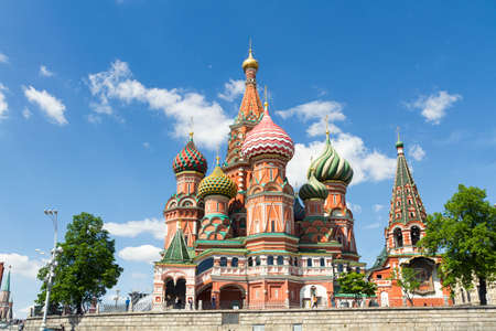 minin: The monument to Minin and Pozharsky and the most famous Russian Cathedral on the Red Square in Moscow