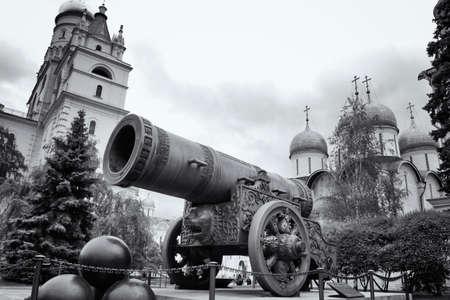 Tsar-pushka King-cannon in Moscow Kremlin. Russia photo