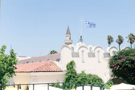 kos: turkish old mosque at central square of Kos island in Greece