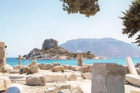kos: Kastri small island near Kefalos village in Kos island Greece