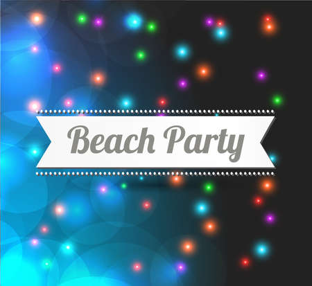 background music: postcard - invitation to Beach party - vector illustration