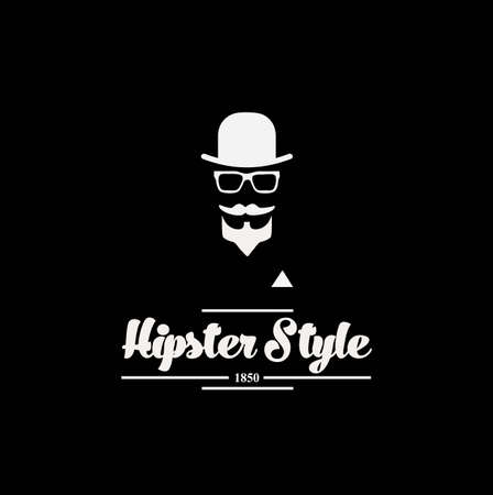 englishman: hipster style vintage label with black background Illustration
