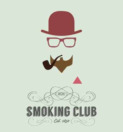 strip club: Badge of vintage gentlemen club design element