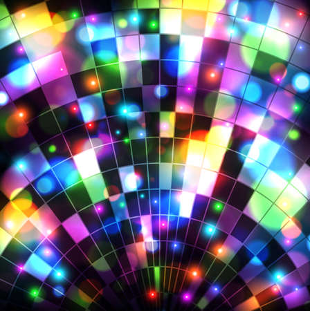 discoball: vector eps background with blue disco ball Illustration