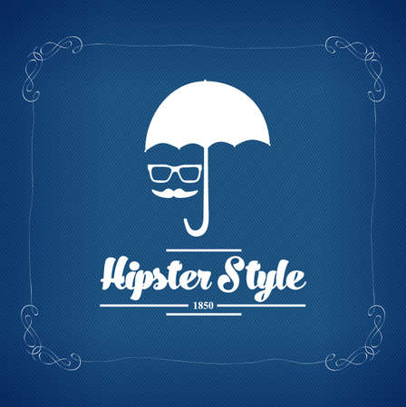 disguised: hipster style vintage label with black background Illustration