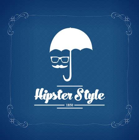 hipster style vintage label with black background Illustration
