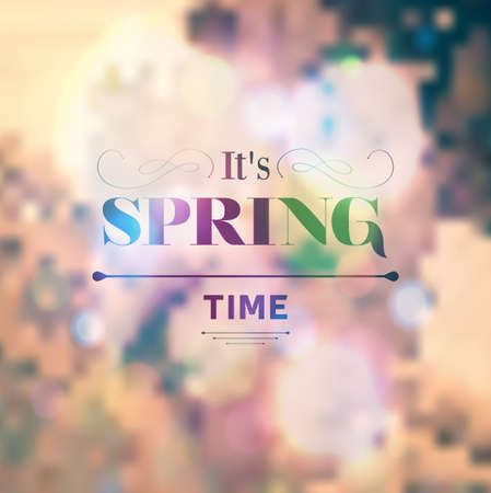 coloful: Typographic Design - Its Spring Time, coloful background