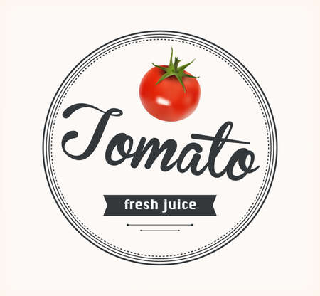 tomato juice: Tomato juice. Detailed label. Series of food and drink.