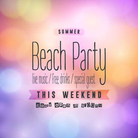 beach party: Summer Beach Party Flyer. Vector Design