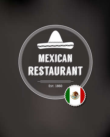 mexican restaurant: Mexican restaurant. Badges, labels for Mexican food. Mexican vector design template