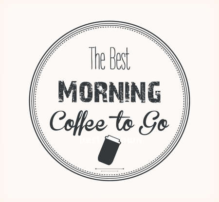 best coffee: the best morning coffee label vector