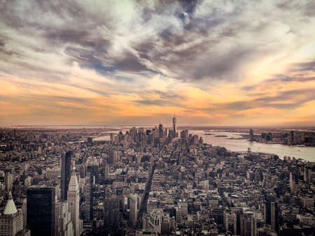 withe: New York cityscape, USA black an withe