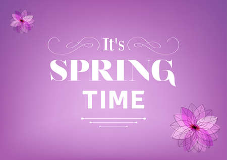 advertising signs: Its Spring Time Illustration